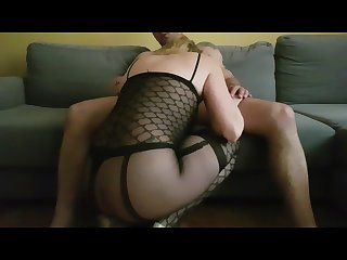 Bodystocking high heels fuck wife