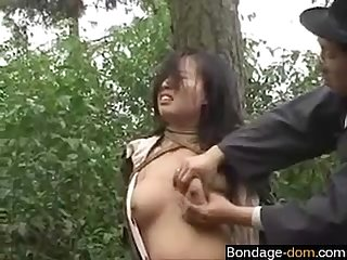Chinese army girl tied to tree 2 bondage dom