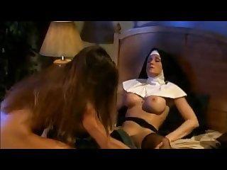 Sick ass strapon nun