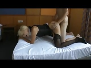 Husband films wife fucking young guy and getting soaked in spunk