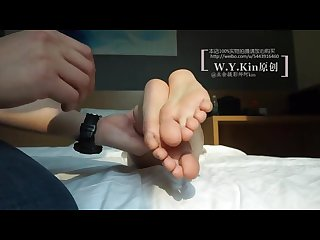 Tickle Chinese girl student 5