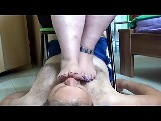 Bbw foot smelling and smother