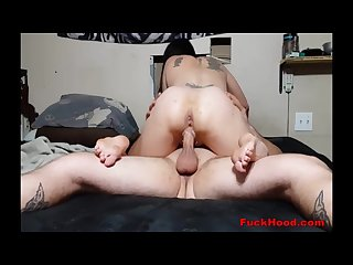 Dirty slut creams his cock with pussy juice in horny fuck