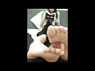 Asian foot worship Chinese foot job