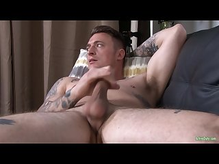 Activeduty major hunk jerks gorgeous cock