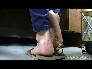 Super hot fl street hooker makes u cum smelly stinky dirty flip flops feet