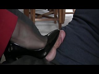 Heartless shoe and foot tease