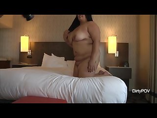 Latina bbw makes first porn