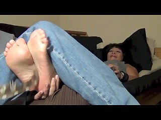 Puress feet played with and tickled
