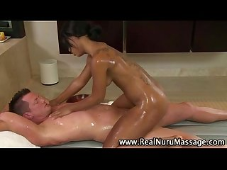 Nasty black massage hoe sucks on dick