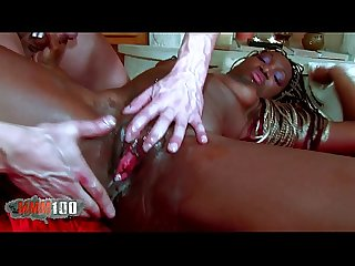 Hot black babe with great ass fucked hard in the ass by white guy