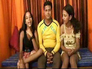 Hot threeway indian awesome fuck