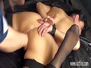 Amateur milf brutally fist fucked in bondage