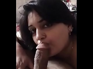Aunty giving me Blowjob