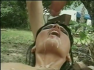 Huge cum shot to mouth