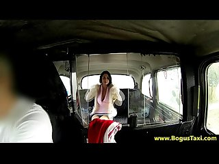 Real euro babe rides in back of taxi