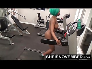 Walking Naked Bubble Butt Ebony Babe Getting Fit Inside Public Gym Msnovember HD Sheisnovember