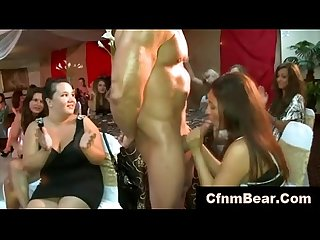 Amateur cfnm babe drinks cum at cfnm club
