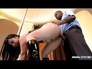 Anal inspectors cram Asian pole dancer Tigerr Benson's ass with black dick