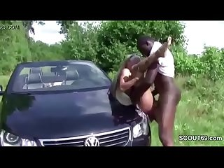 German Teen Seduce to Fuck by Monster Interracial Cock