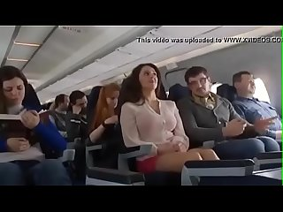 Mariya Shumakova Flashing tits in Plane- Free HD video @..