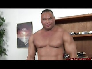 Personal assistant fucked by 2 hung black guys