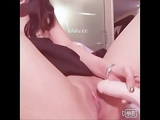 Cute chinese girl masturbation with dildo - https://asiansister.com