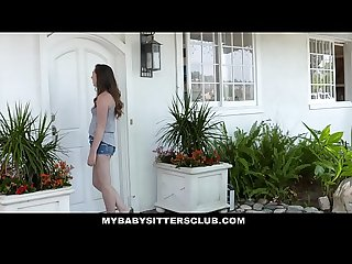 MyBabySittersClub - Babysitter Teen Tricked Into Fucking New Boss
