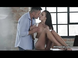 Tongue deep in raven haired beauties ass