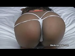 Interracial sex casting with curvy black amateur