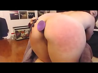 Mix Asian girl playing booty anal plug free show