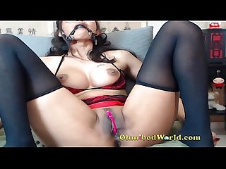 Asain girl gagged and Forced to cum on cam