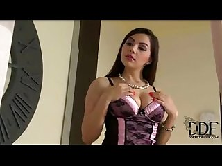 Sexy thick latina tied up fucked by two lucky thiefs