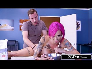 Beautiful school girl Anna bell peaks cannot cook but loves to fuck