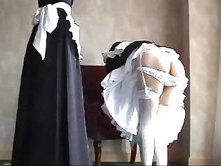 017 maid training spanking