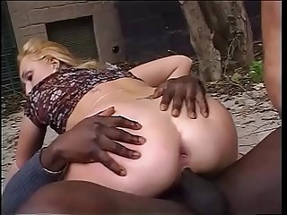 Interracial double penetration in black & white!