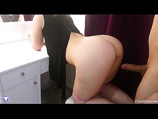 Big booty fucked hard and cum on face cristall gloss