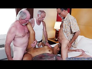 Dirty Old men gangbang A sexy latina babe