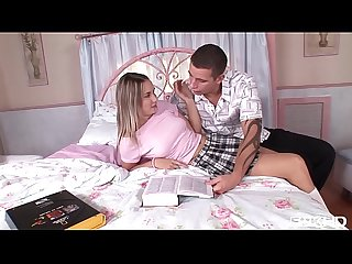 Brace-faced cutie Sugar Baby gets her teenage asshole fucked on bed