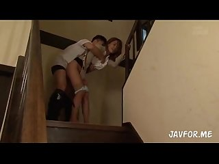 Japanese stairway to cumshot fantasy