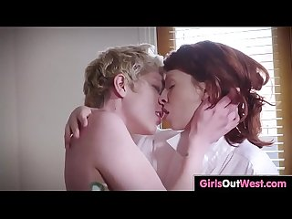 Hot lesbians with hairy cunts enjoy oral sex