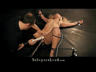 blonde salacious slut bound and lasting toy drilled