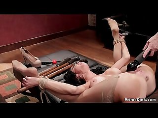 Busty slave squirter anal toyed bondage