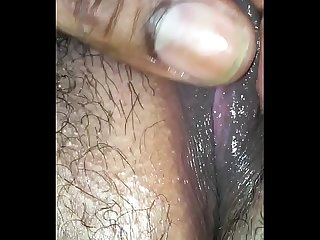 eating a fat black hairy pussy