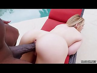 Hadley Viscara cums on a XXL black cock