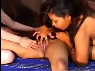 Indian school girls play with vagina in lesbian porn