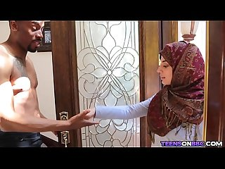Arab Hijab Teen Fucks Big Black Cock