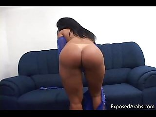 Perfect body real arab slut gets