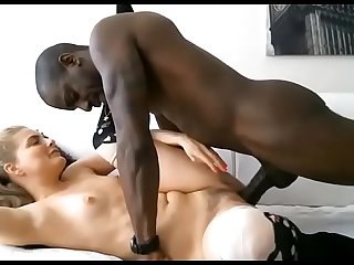 Hot girl enjoys fucking with big black cock live cam