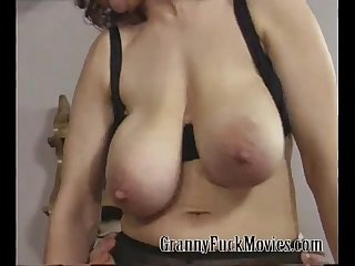 Granny sharing a few dicks